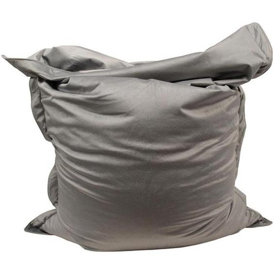 utz Sitzsack Samt Grau , Textil , 380 L , 180x140x14 cm