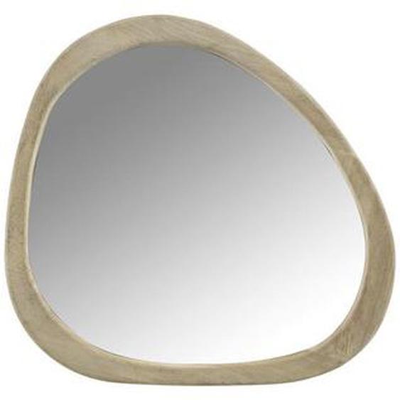 utz Spiegel Mangoholz Braun , Holz, Glas , 56x3.5 cm