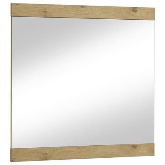 utz Spiegel , Glas , furniert , 84x83 cm