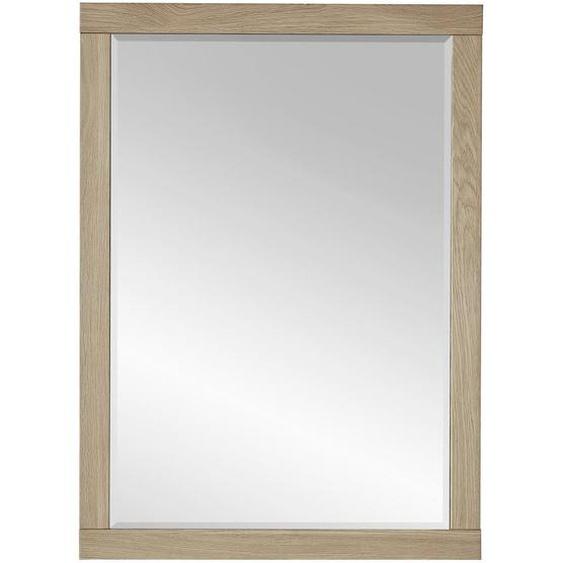 utz Spiegel Wildeiche Braun , Glas , furniert , 65x90x3 cm