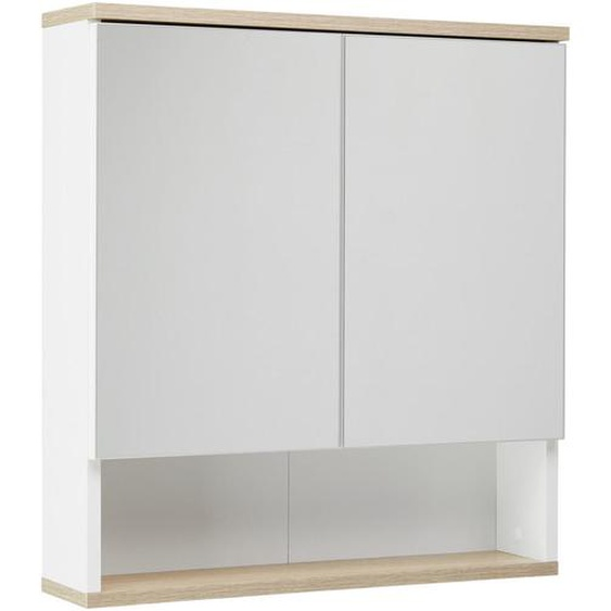 utz Spiegelschrank Weiß , Holzwerkstoff , Nachbildung , 1 Fächer , 60x65x13.9 cm