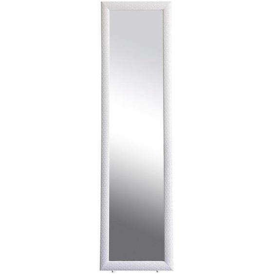 utz Standspiegel Pinie Weiß , Holz, Glas , Hartholz,Hartholz , 39x146x3 cm