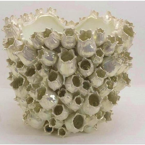 utz Übertopf , Gelb , Keramik , 43.5x36.5 cm