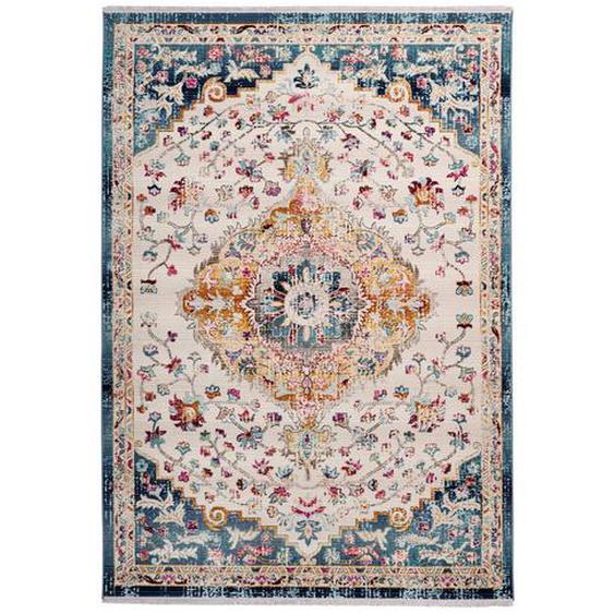 utz Vintage-Teppich 120/170 cm Grau, Grau , Textil , Vintage , 120 cm