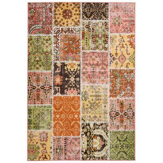 utz Vintage-Teppich 200/290 cm Mehrfarbig , Textil , Patchwork , 200x290 cm