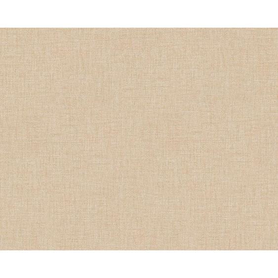 utz Vliestapete 10,05 m , Beige, Beige , Textil , 70x1005 cm