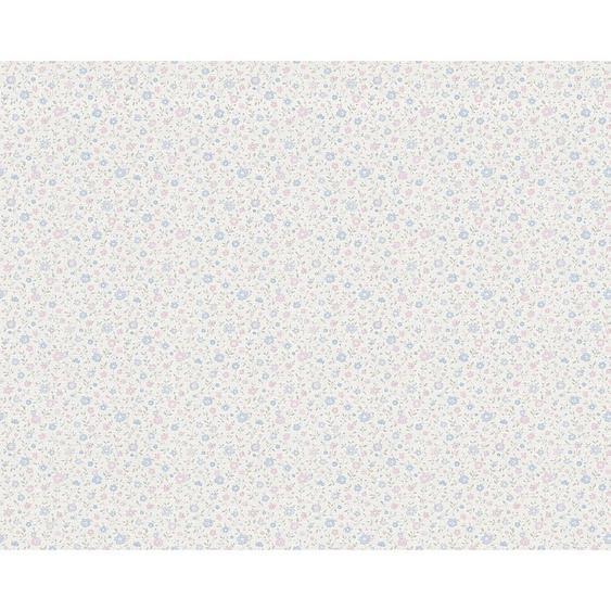 utz Vliestapete 10,05 m , Weiß , Textil , Blume , 53x1005 cm