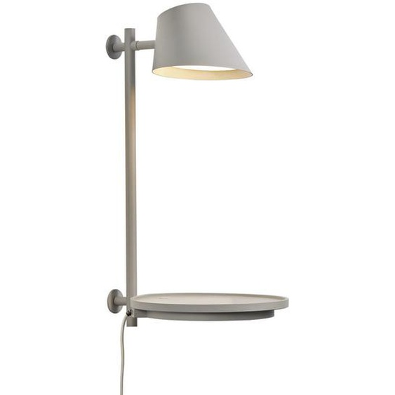 utz Wandleuchte , Grau , Metall , 44.5 cm