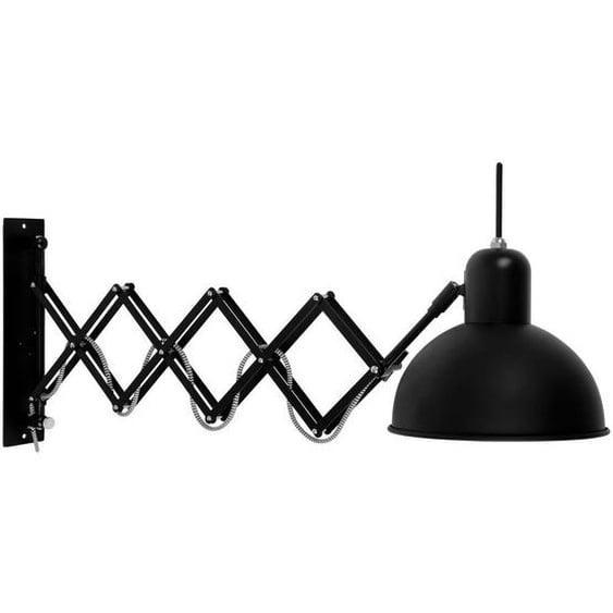 utz Wandleuchte , Schwarz , Metall , 60-85x36 cm