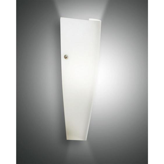 utz Wandleuchte , Weiß , Metall, Glas , 13x36 cm