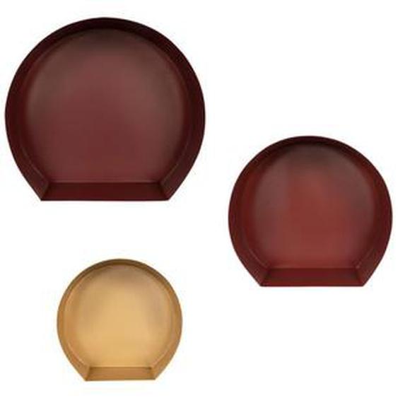 utz Wandregalset Gold, Rot, Rot , Gold, Rot, Rot , Metall , 27-39.5x26-37.5x12 cm