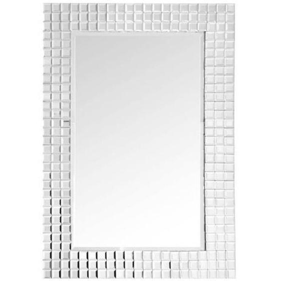 utz Wandspiegel Grau , Metall, Glas , 60x90x4 cm