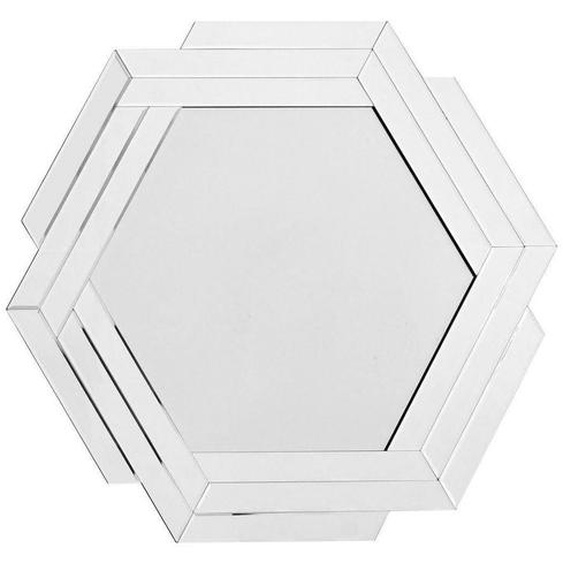 utz Wandspiegel Grau , Metall, Glas , 80x85x1.6 cm