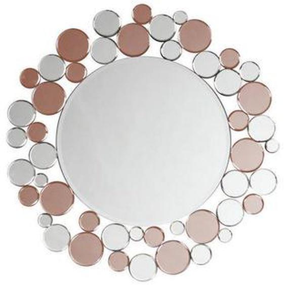 utz Wandspiegel Rosa, Grau , Metall, Glas