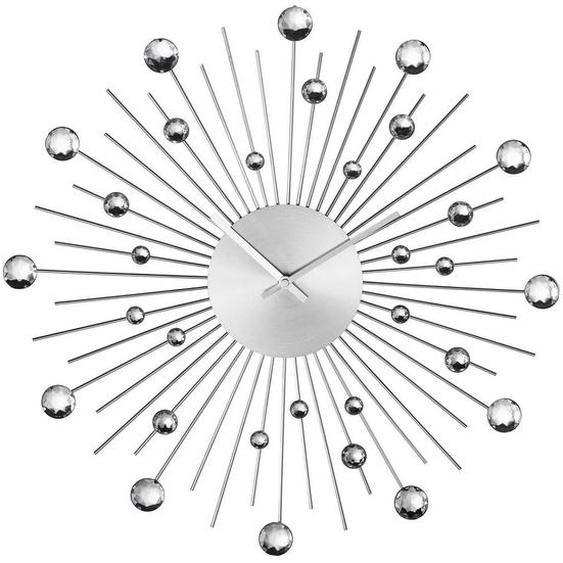 utz Wanduhr Grau , Metall , 10 cm
