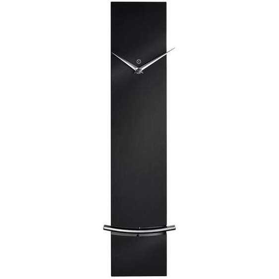 utz Wanduhr Schwarz , Metall , 60x12x5 cm