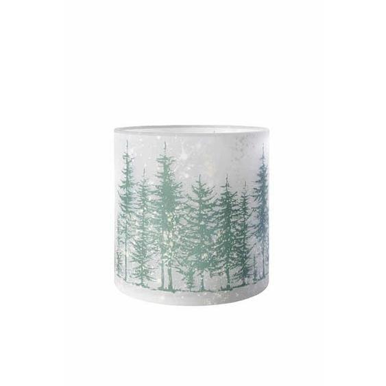 utz Windlicht , Grau , Glas , Winterlandschaft , 20 cm