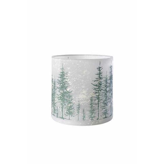 utz Windlicht , Grau , Glas , Winterlandschaft , 24.5 cm