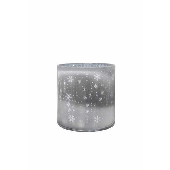 utz Windlicht , Grau, Silber , Glas , 24.5 cm