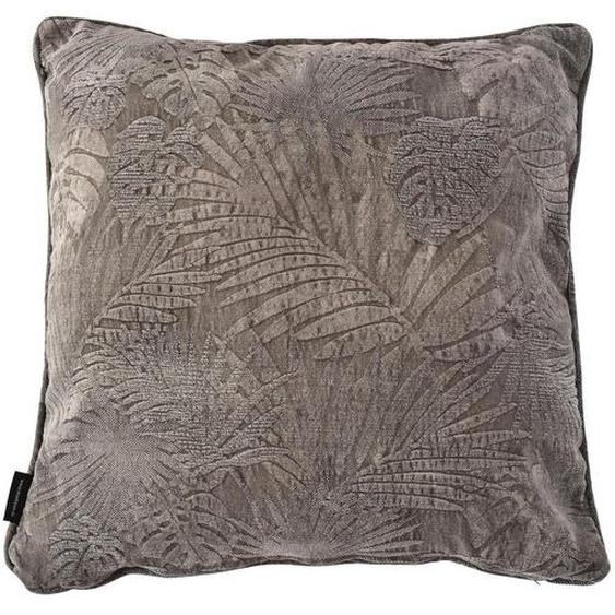 utz Zierkissen 60/60 cm , Beige , Textil , Floral , 60x60 cm
