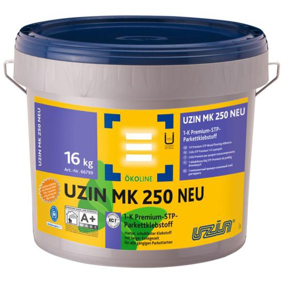 UZIN MK 250 NEU 1-K Premium-STP-Parkettklebstoff 16 kg