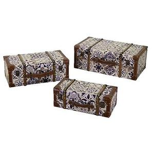 Vacchetti 3813190000 Aufbewahrungsbox, Kunstleder, blau, klein, 3 Stück