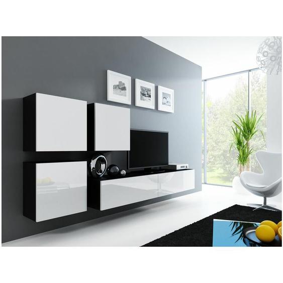 Vago XXIII Quadrat Wohnwand Schwarz Weiß