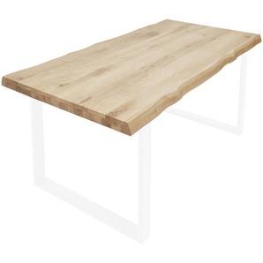 Valdera: Tischplatte, Wildeiche, Eiche, B/H/T 90 6 180