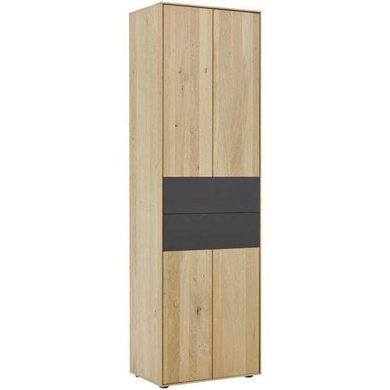 Valnatura Garderobenschrank Kerneiche vollmassiv Braun , Holz , 2 Fächer , 60x196x39 cm