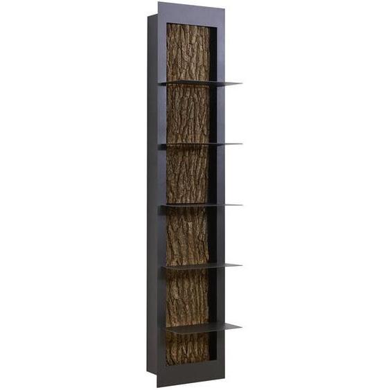 Valnatura Regal Kerneiche vollmassiv Braun , Metall , 5 Fächer , 38.5x181x29 cm