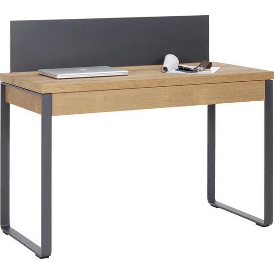 Valnatura Sekretär Kerneiche massiv Braun , Holz, Metall , 1 Schubladen , 120x101x55 cm