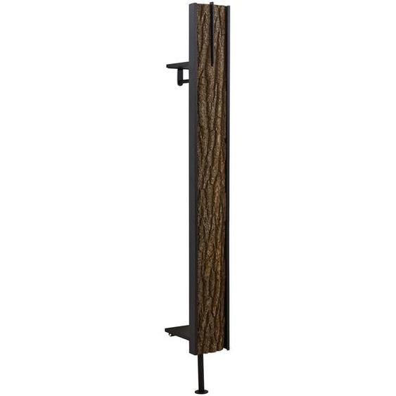 Valnatura Wandgarderobe Kerneiche vollmassiv Braun , Holz, Metall , 20x191x28 cm