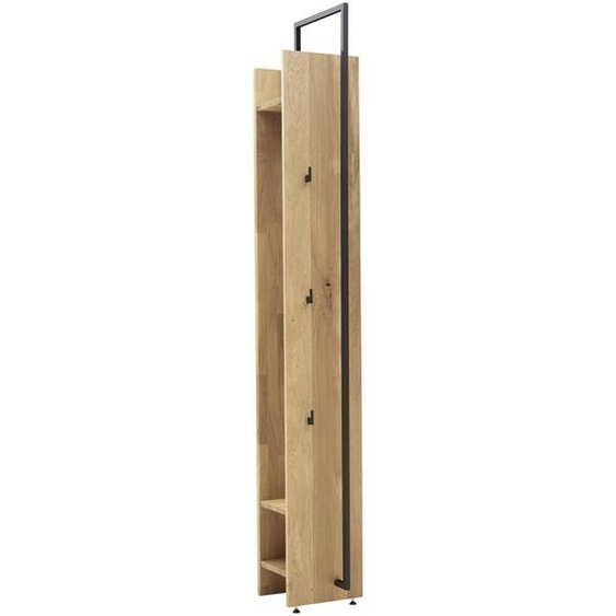 Valnatura Wandgarderobe Wildeiche massiv Braun , Holz, Metall , 28.8x210.3x38.4 cm
