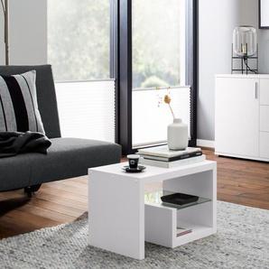 Vario-Beistelltisch - Weiß - Holz -