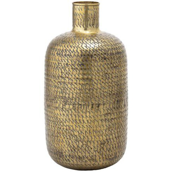 Vase aus Metall in Gold mit Messing-Finish Höhe 65 cm