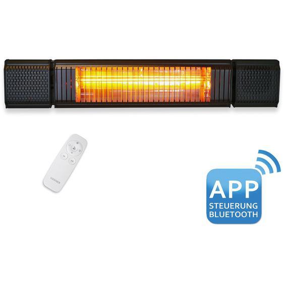 Vasner Bluetooth Heizstrahler Appino Beatzz LED Backlight Schwarz