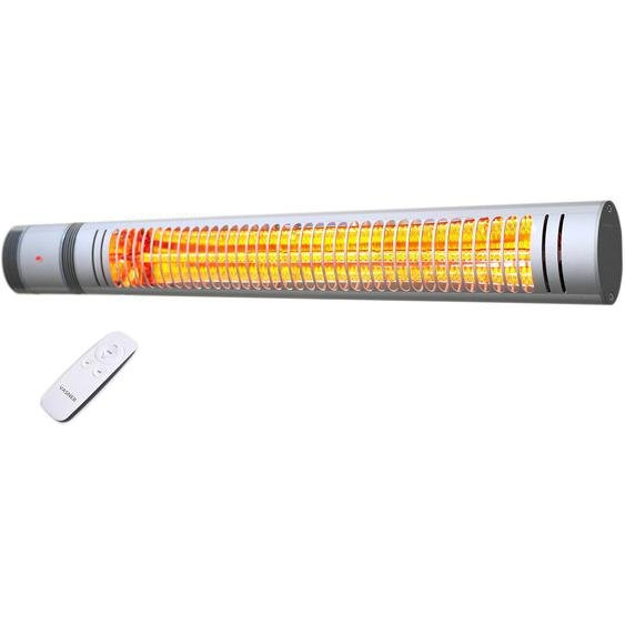 Vasner Infrarot-Heizstrahler SlimLine X20 2000 Watt mit Fernbedienung Silber