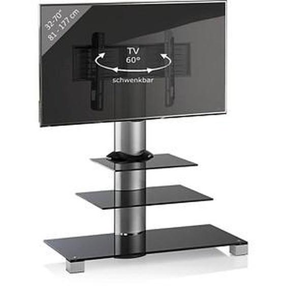 VCM my media TV-Ständer Amalo Maxi silber, schwarzglas