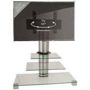 VCM my media TV-Ständer Amalo Mini silber, klarglas