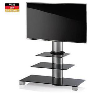 VCM my media TV-Ständer Amalo silber, schwarzglas