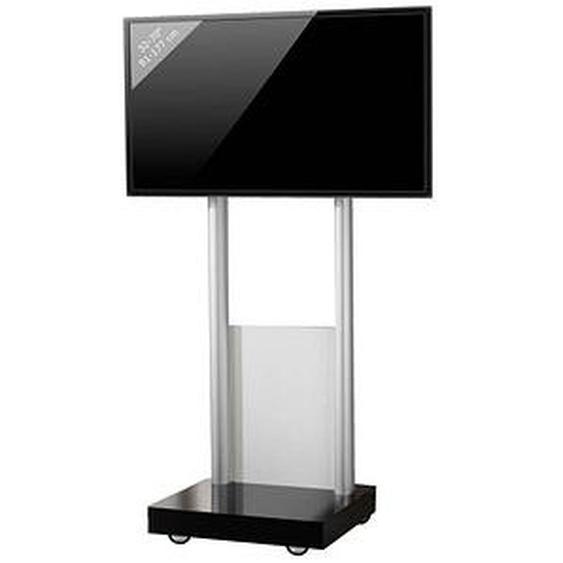 VCM my media TV-Ständer mit Rollen Monte Visolo 1 schwarz, silber, weiß