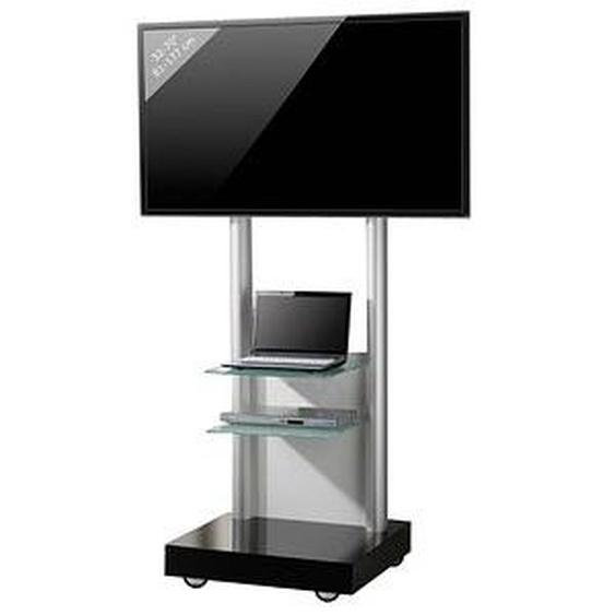 VCM my media TV-Ständer mit Rollen Monte Visolo 3 schwarz, silber, weiß, klarglas