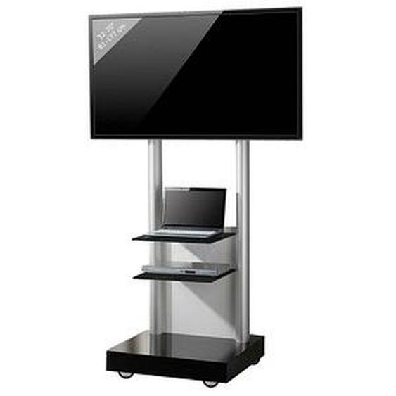 VCM my media TV-Ständer mit Rollen Monte Visolo 3 schwarz, silber, weiß, schwarzglas