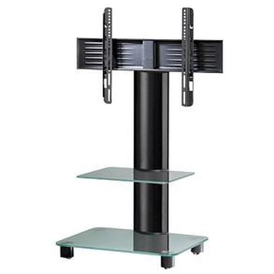 VCM my media TV-Ständer mit Rollen Tosal mit Zwischenboden schwarz, mattglas