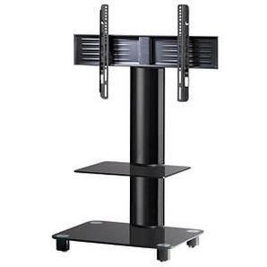 VCM TV-Ständer Tosal mit Zwischenboden schwarz