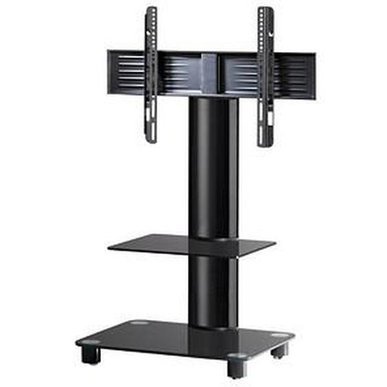 VCM my media TV-Ständer mit Rollen Tosal mit Zwischenboden schwarz, schwarzglas