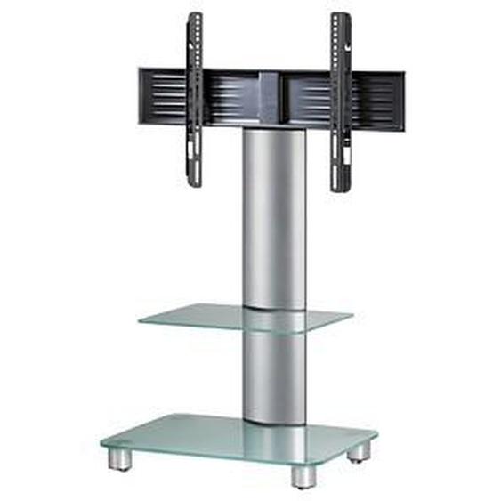 VCM my media TV-Ständer mit Rollen Tosal mit Zwischenboden silber, mattglas