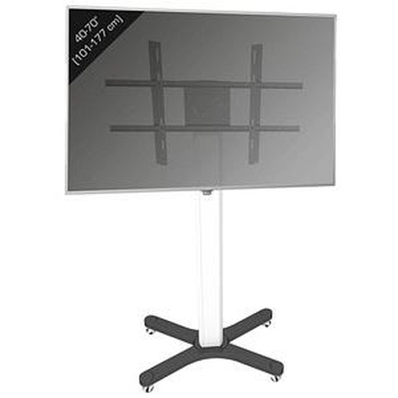 VCM my media TV-Ständer mit Rollen X-Tower schwarz, silber