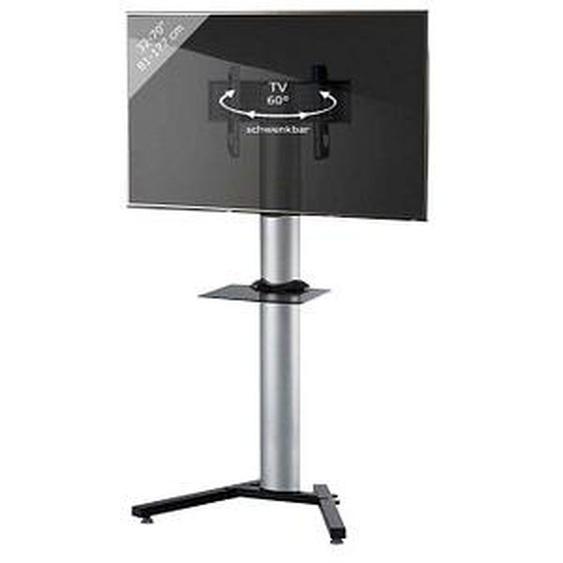 VCM my media TV-Ständer Stadino Maxi silber, schwarz, schwarzglas