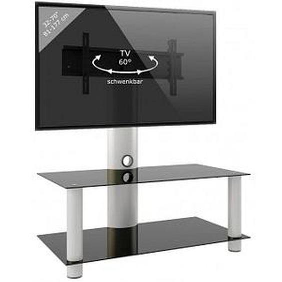 VCM my media TV-Ständer Valeni Maxi silber, schwarzglas